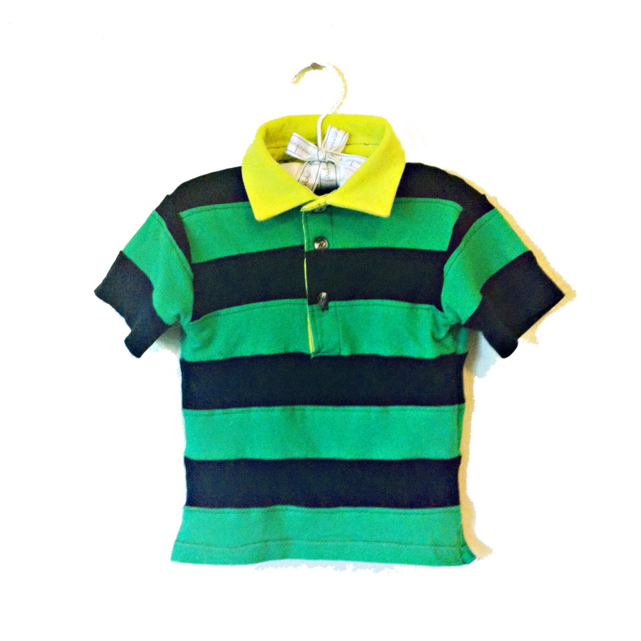 stripey t-shirt polo
